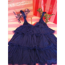 Victorias Secret The Sparkle Glam Blue Baby Doll Sz S