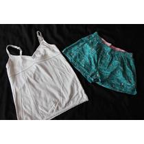 Pink Victoria Secret Old Navy Set Short Y Cami Pijama Chica