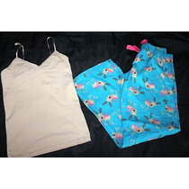 Old Navy Banana Republic Set Pijama Renos Talla Mediana