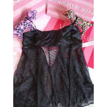 Victoria`s Secret The Silk Black Baby Doll M