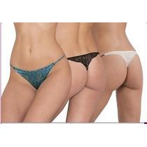 Tangas, Pantaleta Bikini Tangas Brillosas Espejo, Estampadas