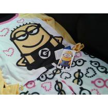 Pijama De Niña Minion Pantalon Polar Talla 6 Nuevo