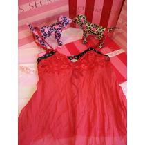 Victoria`s Secret The Red Silk Baby Doll Slip Seda S