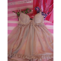 Victorias Secret The Sweet Cream Bow Bra Baby Doll Sz 34c
