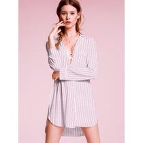 Victorias Secret The Cotton Pink Camison Pijama Dormir Sz L