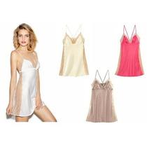 Victoria´s Secret The Luxe Silk 100% Seda Y Encaje Talla M