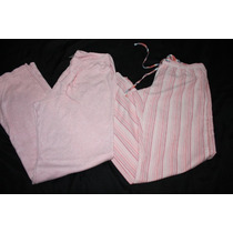 Old Navy Lote 2 Pantalones Pijama Durazno Rayas Talla M