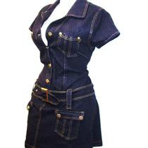 Mini Vestido Bluson Mezclilla Stretch Tambien Tallas Extras