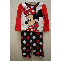 Pijama Franela Disney Minnie Mouse 2 Piezas Talla 3 Nueva