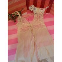 Victorias Secret Bridal Silk Baby Doll 100% Seda Novia Sz: M