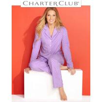 Conjunto 3xl Pijama Charter Club Lila Blusa Pantalon Xxxl Ve