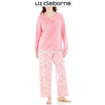 Conjunto Xxl Liz Claiborne Pijama 2xl Rosa Blusa Pantalon 2x