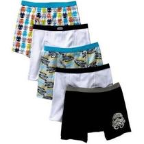 Paquete De 5 Calzones Tipo Boxers Para Niño Star Wars Disney
