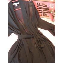 Victorias Secret Bata Chiffon Black Unit Unitalla
