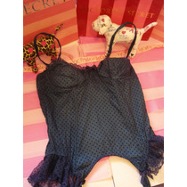 Victorias Secret The Pin Up Polka Dots Corset Compresor 36c