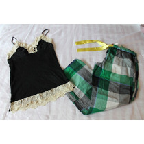 Lei Miss Me Set Pijama Cuadros Verde Talla Grande L