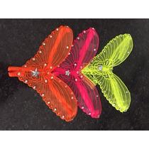 Tanga Mod. Mariposa Con Pedrería Fluorescente