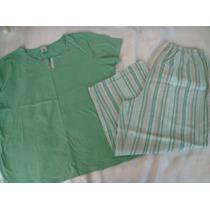 Classic Elements Set Pijama Menta Capri Algodon Talla S