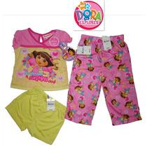 Pijama Dora 2 Anos Nickelodeon Nina 3 Pz Playera Pantalon++