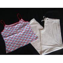 Old Navy Barefoot Dreams Set Pijama Cerezas Talla L