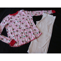 Disney Mickey Mouse Hard Tail Set Pijama Rosa/bca Talla L