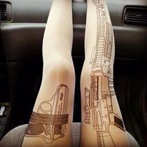 Medias Tatuajes Moda Japonesa Kawaii Tatoo Gato Pantimedia