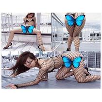 Sexy Fishnet Body Stocking-negro-red-malla
