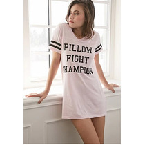 Forever 21 Camison Pijama Rosa Algodon Pillow First