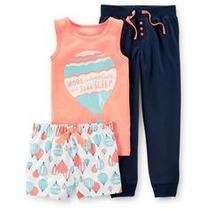 Carters Modelo Pijama 3 Piezas Niña 6 Años Envio Gratis