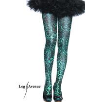 Leg Avenue Pantimedias Animal Print Azules Modelo 7451