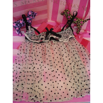 Victorias Secret Polka Dots Baby Doll Pezonero Sz 36c
