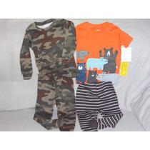 Set 4 Pzas Pijamas 2 Conjuntos Niño Carter
