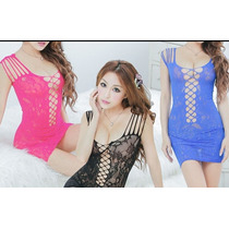 Sexy Lingerie Dress Teddy Bodystocking Fishnet Hot Nightwear