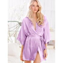 Victorias Secret Soft Lavanda Kimono Bata Nueva Colección!