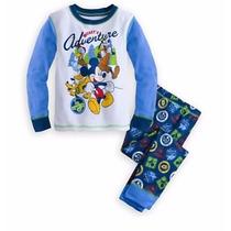 Mikey Mouse Pijama Niño Disney Store Original Algodon 2 Piez