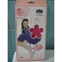 Mallas Para Niña Delgadas Rosa Fuerte 4/6 Super Lindas Sp0