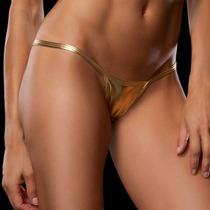 Micro Bikini Metalizado Talla Chica Color Dorado