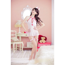 Disfraz Mujer Enfermera Sexy Baby Doll Lencería Ropa Moda