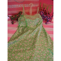 Victorias Secret The Angels Printed Satin Baby Doll Sz S