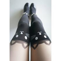 Medias Pantimedias Japonesa Sexy Gato Corazon Calzeta Cat