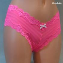 Victoria Secret Bikini Rosa Con Encajes Y Moños Blancos