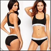 Coordinado Bra Bikini Calvin Klein Tanga Calzon Set Original