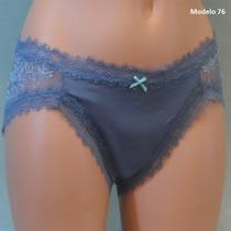 Victoria Secret Panty De Encaje En Color Rosa, Morado, Gris