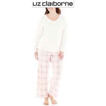 Conjunto Xxl Liz Claiborne Pijama 2xl Blanca Blusa Pantalon!