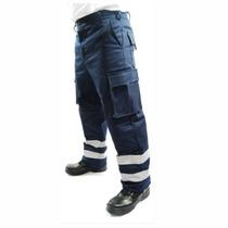 Pantalon Cargo Multibolsas Con Cintas Reflajantes Paramedic