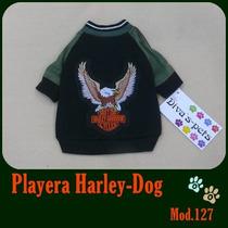 Ropa Para Perros, Hermosa Playera Harley,,tu Mascota