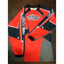 Jersey Motocross Thor 10-12 Años Seminuevo Excelente!!!