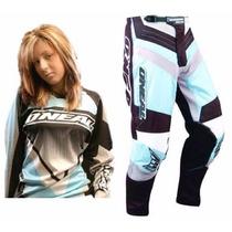 Traje De Mujer Motocross Oneal Cuatrimoto Enduroatv Rzr Atv