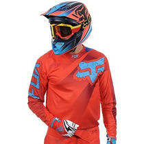 Jersey Fox 360 Flight Rojo Azul Talla Xl Motocross Downhill