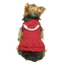 Vestido Para Perro Anima Rojo Polca Vestido Punteado Con Co